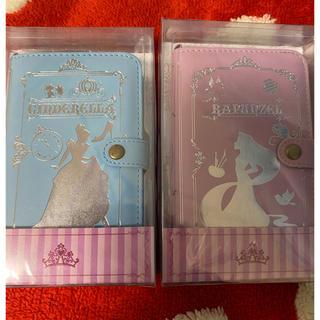 ディズニー(Disney)の未使用 Disney シンデレラ ラプンツェル スマホケース 2種セット(スマホケース)