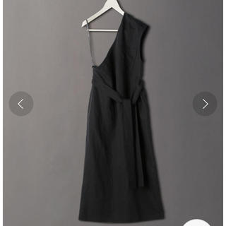 BEAUTY&YOUTH UNITED ARROWS - 6(roku)18SS ONE SHOULDER ONE PIECE  黒 美品