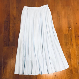 UNIQLO - UNIQLO プリーツスカート  ブルー M