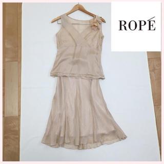 ロペ(ROPE)の超美品 ROPE  シルク セットアップ フォーマル ドレス(セット/コーデ)