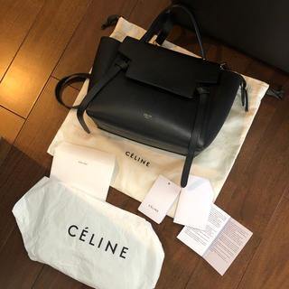 celine - セリーヌ マイクロ ブラック ベルト バッグ
