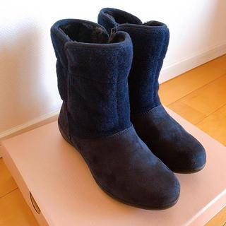 HAWKINS - HAWKINS  ブーツ 23.5 紺色