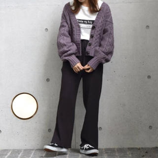 w closet - 裾スリット入りメローパンツ