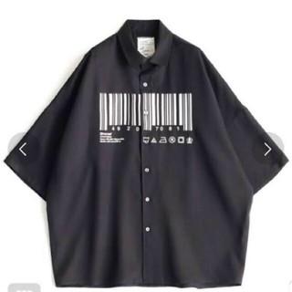 SHAREEF - SHAREEF バーコードシャツ 1 ブラック