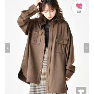 ミスティック(mystic)のmystic♡ベルト付きBIGシャツジャケット(ミリタリージャケット)