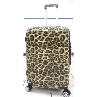 大型軽量スーツケース8輪キャスターTBSロック付き Lキャリーケース レオパード