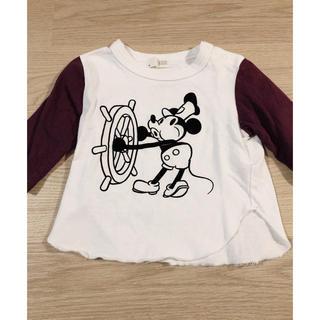 petit main - プティマイン  ミッキーTシャツ 90 80