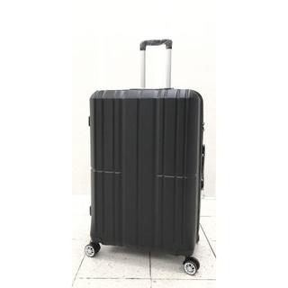 大型軽量スーツケース8輪キャスター TSAロック付き Lキャリーケース 黒