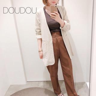 DouDou - 新品❁doudou  リネンノーカラージャケット