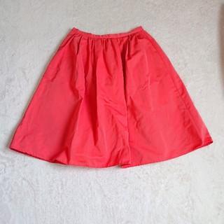 アールユー(RU)のほぼ未使用 ru 55S コーラルピンク 膝丈スカート(ひざ丈スカート)