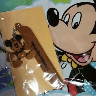 Disney - ミッキーマウス 本皮 ブックマーカー