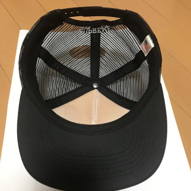 Supreme(シュプリーム)のSupreme ANTIHERO Mesh Back 5 Panel Cap 黒 メンズの帽子(キャップ)の商品写真