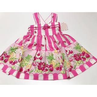 Shirley Temple - 新品タグ付き シャーリーテンプル フルーツパーラー ジャンパースカート 90