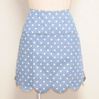 franche lippee - 水玉模様のスカラップスカート*franche lippee