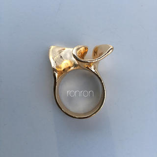 Ameri VINTAGE - フリル デザインリング ゴールド  IENA  ジーナシス