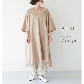 merlot - 春の新作*fillil ビッグ衿ラグランワンピース