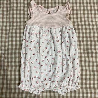 babyGAP - ベビーギャップ 花柄ロンパース