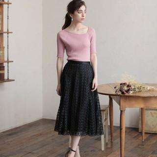 ANAYI - 【新品】ANAYI  フラワー刺繍フレアスカート