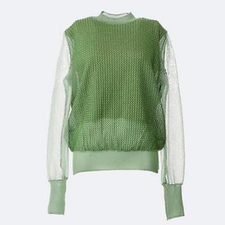 mame - mame グリーン ニット セーター