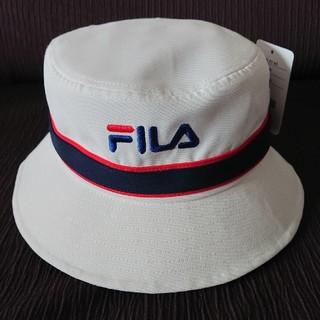 FILA - FILA ホワイト ハット サイズ フリー 58㎝