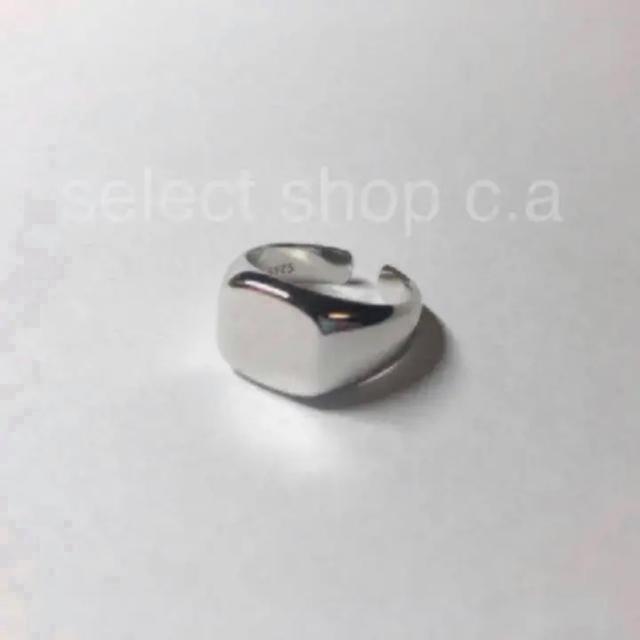 HYKE(ハイク)のシルバー925 スクエアリング レディースのアクセサリー(リング(指輪))の商品写真
