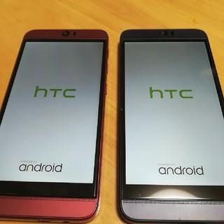 ハリウッドトレーディングカンパニー(HTC)のhtc J butterfly HTL21 au レッド ブルー 2台セット(スマートフォン本体)