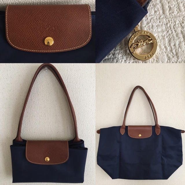 LONGCHAMP(ロンシャン)のロンシャン プリアージュ トート バッグ ネイビー レディースのバッグ(トートバッグ)の商品写真