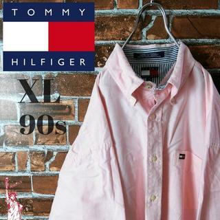 トミーヒルフィガー(TOMMY HILFIGER)の【90s】【ビッグサイズ】トミーヒルフィガー☆BDシャツ ピンク(シャツ)