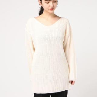グレイル(GRL)の即購入OK❤︎あぜ編みVネックチュニック ニット セーター(ニット/セーター)