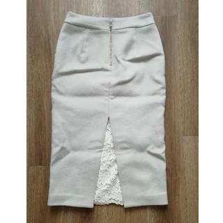 エージーバイアクアガール(AG by aquagirl)の新品 CROLLA  ウールタイトスカート aquagirl グレー(ロングスカート)