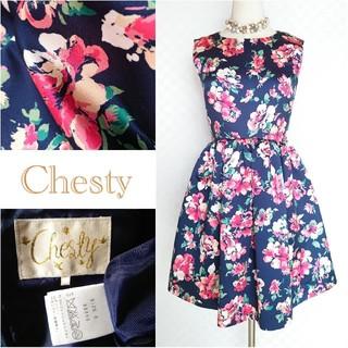 Chesty - Chesty*チェスティ♥️花柄タックフレアワンピース