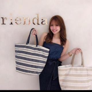 rienda - ❤️【送料込】rienda☆ランダムボーダーBIGトート&ポーチ
