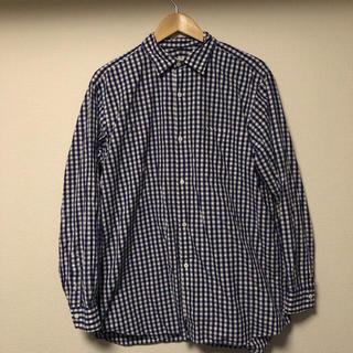 COMOLI - 17ss comoli ブルーギンガムチェックシャツ コモリ 3 美品