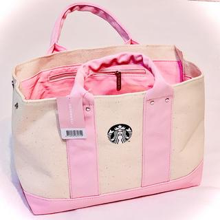 Starbucks Coffee - 台湾 スターバックス ピンクトートバッグ 日本未発売