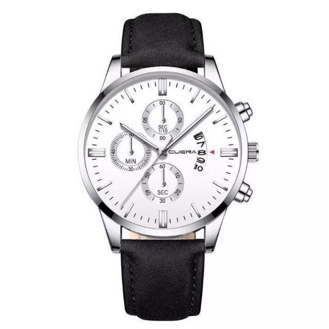 [新品] メンズ インポートウォッチクォーツ腕時計 ブラック シルバー 黒銀の通販