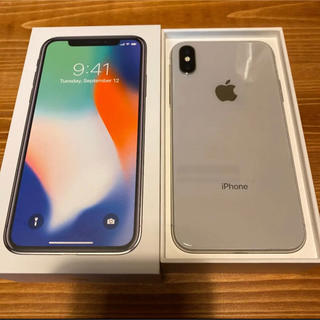 iPhone - 【SIMフリー】iPhone X Silver 64 GB Softbank