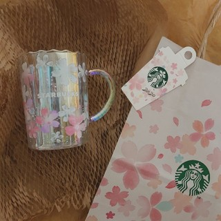 Starbucks Coffee - スタバ さくら 紙袋付き 耐熱 グラス マグ スターバックス STARBUCKS