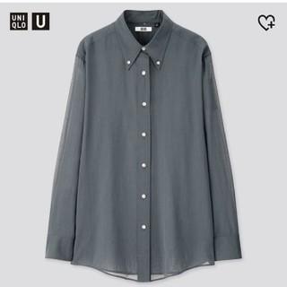 UNIQLO - ユニクロユー ボタンダウンシャツMブルー