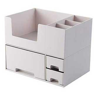 グレーコスメボックス 卓上整理ボックス 化粧品収納ボックス 小物入れ 引き出し