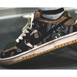 NIKE - TRAVIS SCOTT ×NIKE DUNK LOW PRM QS US9