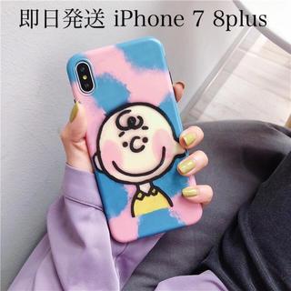 SNOOPY - チャーリーブラウン iPhone7plus iPhone8plus スマホケース