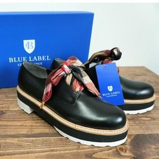 BURBERRY BLUE LABEL - 新品 牛革 ブルーレーベルクレストブリッジ レースアップシューズ 23
