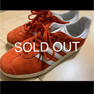 adidas - 【美品】adidas gazelle  赤 スニーカー 23cm