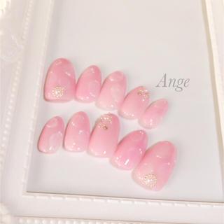 ネイルチップ ふんわり ピンク
