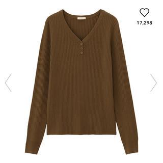 GU - GU ワイドリブヘンリーネックセーター