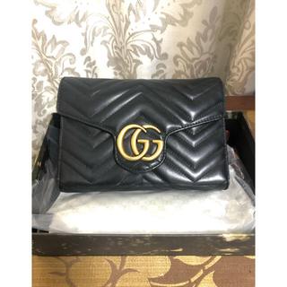 Gucci - GUCCI   GGマーモント お財布ショルダー(値引き交渉可)