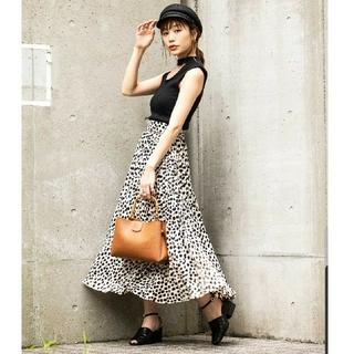 FREE'S MART - FREE'S MART レオパード 変形 プリーツスカート ロングスカート