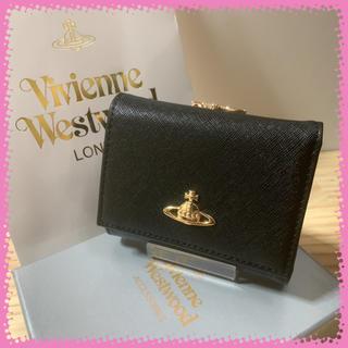 Vivienne Westwood - 新品 ヴィヴィアンウエストウッド 折り財布 三つ折り 黒