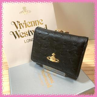 Vivienne Westwood - 新品 ヴィヴィアンウエストウッド 三つ折り 黒 折り財布