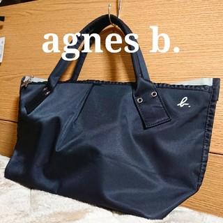 agnes b. - アニエスベー ナイロン製 トートバッグ 黒